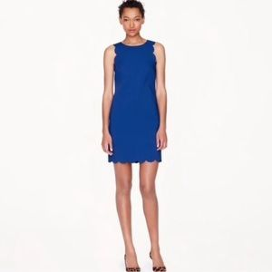 J Crew Blue Scallop Dress